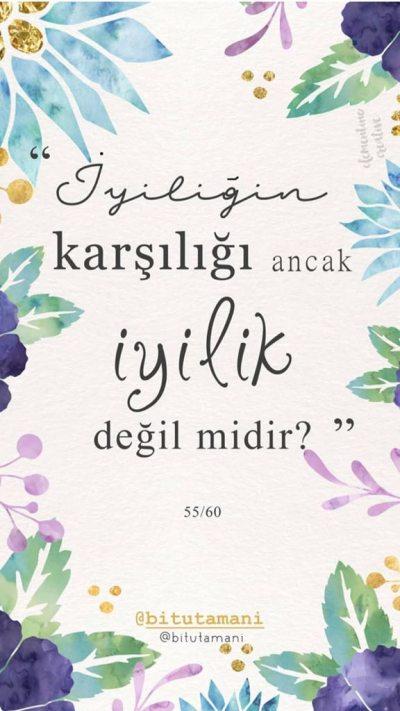 """"""" İYİLİĞiN Karşılığı ancak      İYİLİK"""