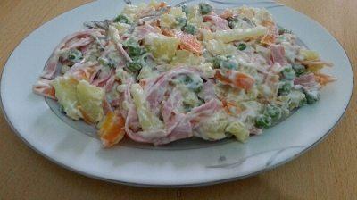 Rus salatası olur da italyan salatası olmaz mı? Ha