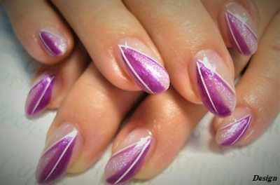 Magenta leaves are very beautiful... Your nails tu