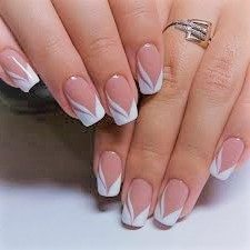 Basic white naildesign. #whitenaildesign #cutenail
