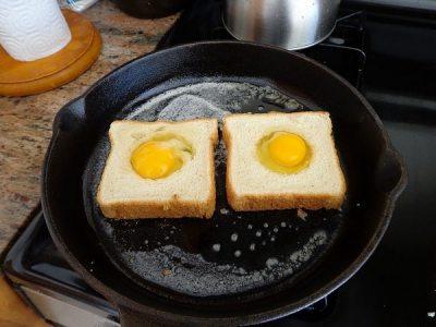 Sepette yumurta  Cafelerde şekilli yumurtalar du