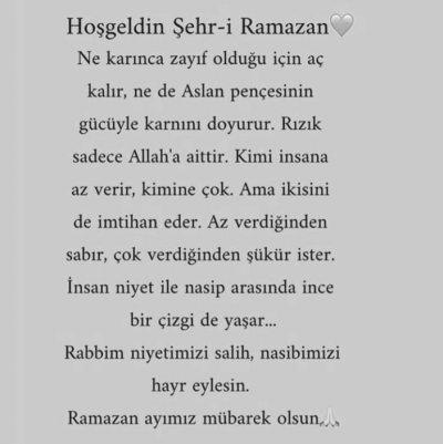 Hayırlı Ramazanlar cümleten 😊