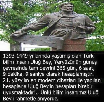 1393-1449 yıllarında yaşamış olan Türk b